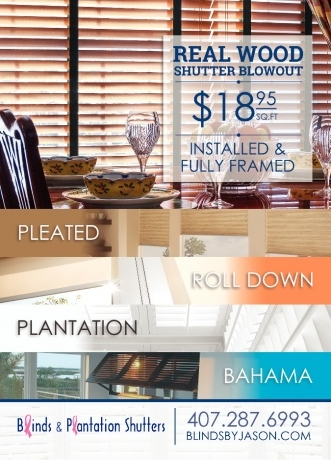Blinds & Plantation Shutters