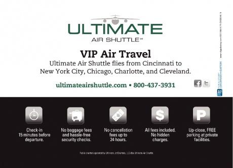 Ultimate Air Shuttle  Cincinnati OH  Fine Dining