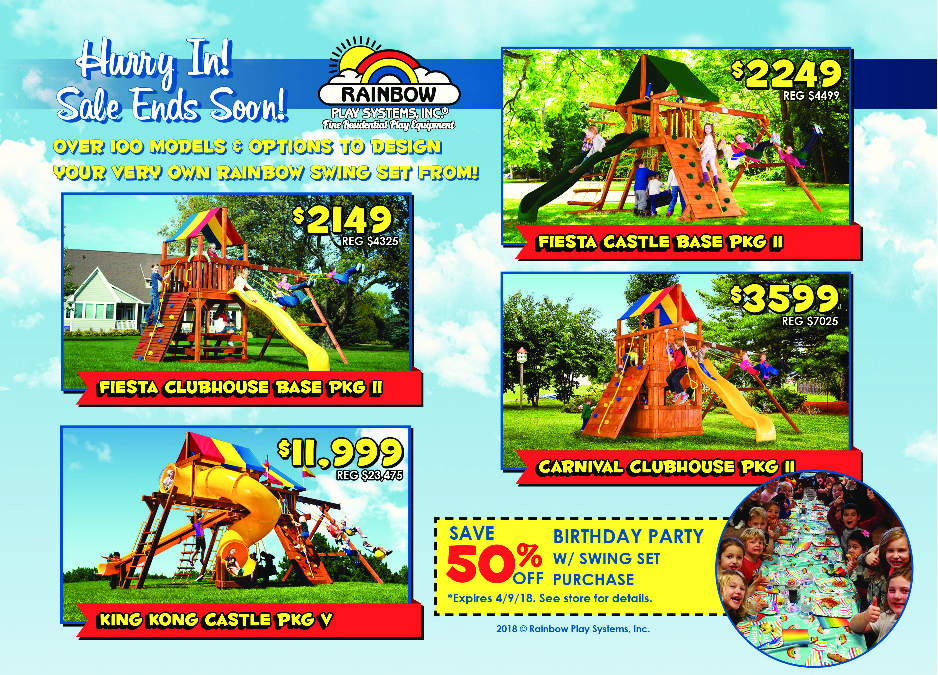 Rainbow Swing Set Superstore