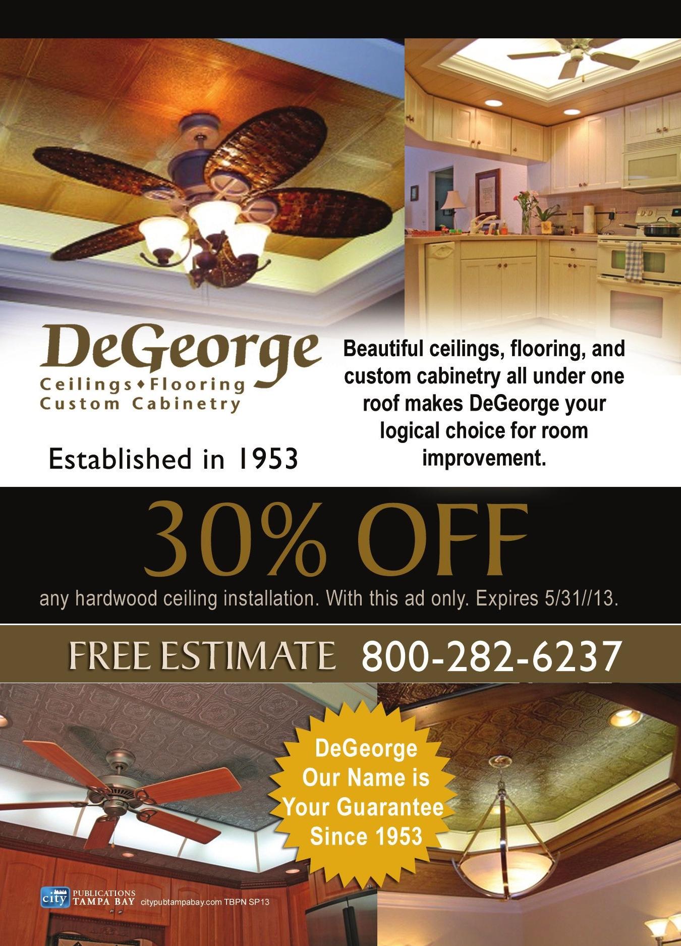 DeGeorge Ceilings Flooring Custom Cabinetry