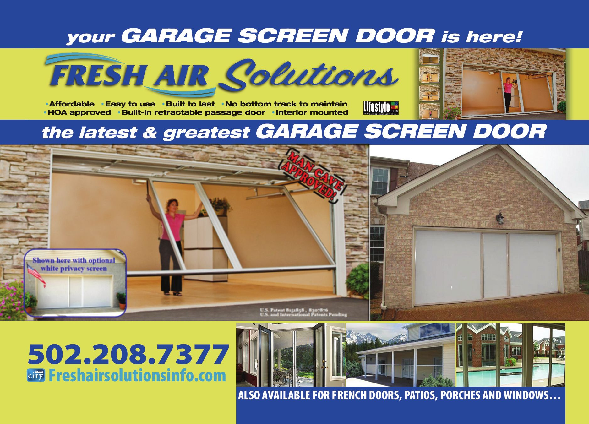 doors retractable garage door screen larson screens exterior x and