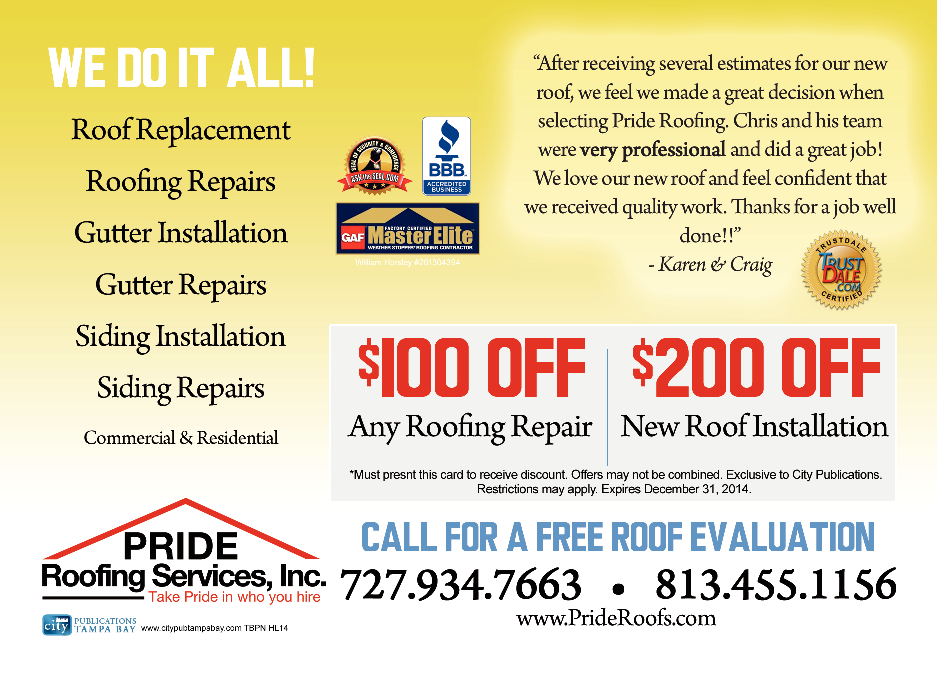 Pride Roofing Services